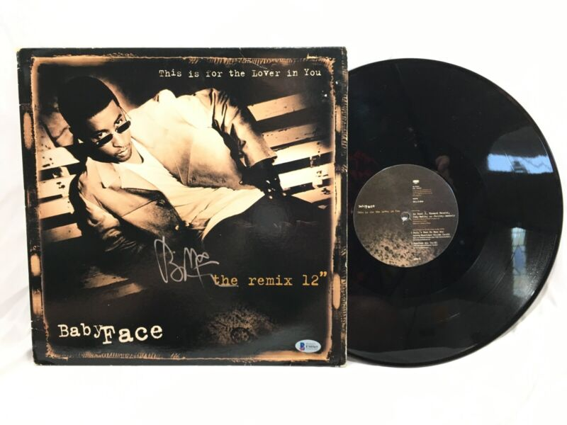BabyFace Signed The Remix 12 Vinyl Record BAS Coa