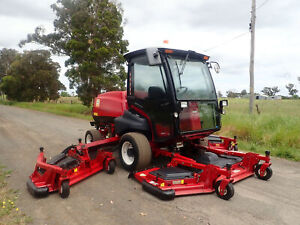 2013 TORO GROUNDSMASTER 5910 A/C CABIN DIESEL COMMERCIAL RIDE ON WIDE AREA WAM OUT FRONT LAWN MOWER Austral Liverpool Area Preview