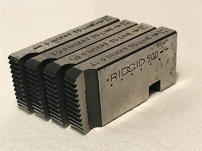 Ridgid 500 Threading Thread Dies 1 Pipe Bolt Full Set