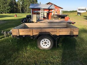 "9x5'10"" utility trailer 3500 lb axle with brakes"