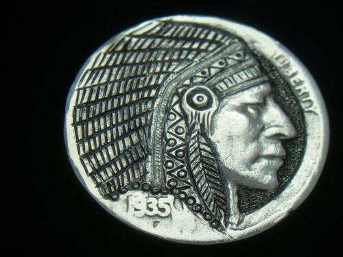 1935- P hobo nickel -  THE INDIAN CHIEF