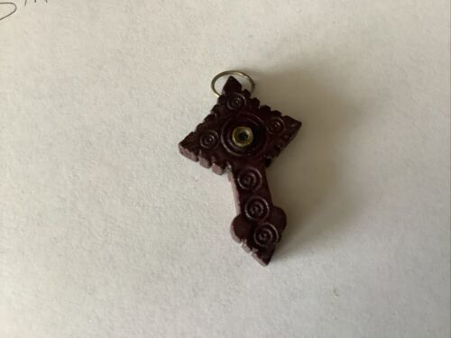 Relic STANHOPE Viewer Carved Wooden CROSS The Apparition KNOCK Co MAYO IRELAND - $25.00