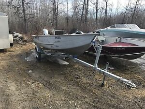 1988 Lowe 16' boat motor and trailer