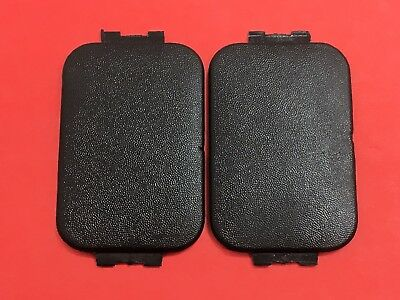 2 97-16 FORD F150 F250 350 Pickup Bed Rail Stake Pocket Trim Cover Cap BLACK Y16