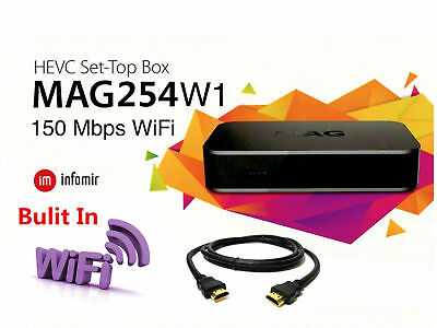 NEW 2018 Genuine MAG 254 W1 IPTV Set-Top-Box MAG254 W1 BUILT IN WIFI HDMI cable