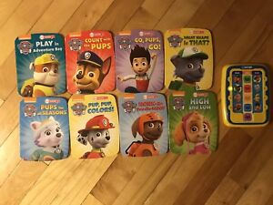 Paw patrol books and reader