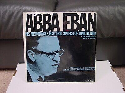 Abba Eban - His Historic Speech Of June 19, 1967 LP New Sealed CJA 300