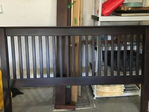 King size solid wood bed from Geddes