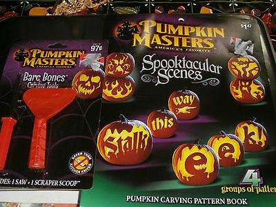 Pumpkin Masters Spooktacular Scenes Halloween Carving Book Patterns 2 Tools](Halloween Scene Pumpkin Carving Pattern)