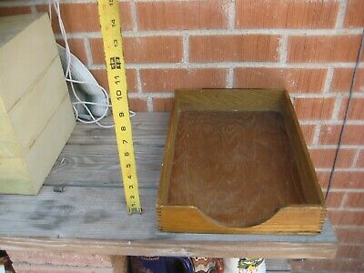 Vintage 8 12 X 11 Paper Long Wood Tray Organizer Usa