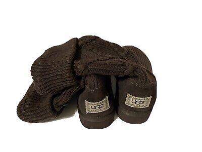 UGG Australia 5819 Women's Classic Knit Brown Crochet Boots Women's Sz 10M