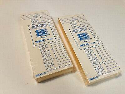 New Lot Of 200 Rediform Weekly Time Clock Cards 4k260t Simplex Amano Acoprint