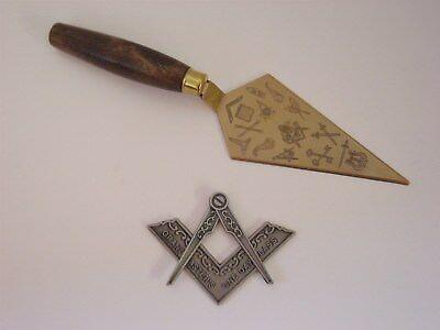 Masonic Emblem Trowel Cake Server Compass Square 1963 Kistner Tippecanoe #174