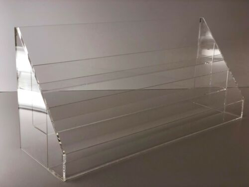 Acrylic Rack Greeting Card Display Rack Counter top Display with 3 Tier Mails