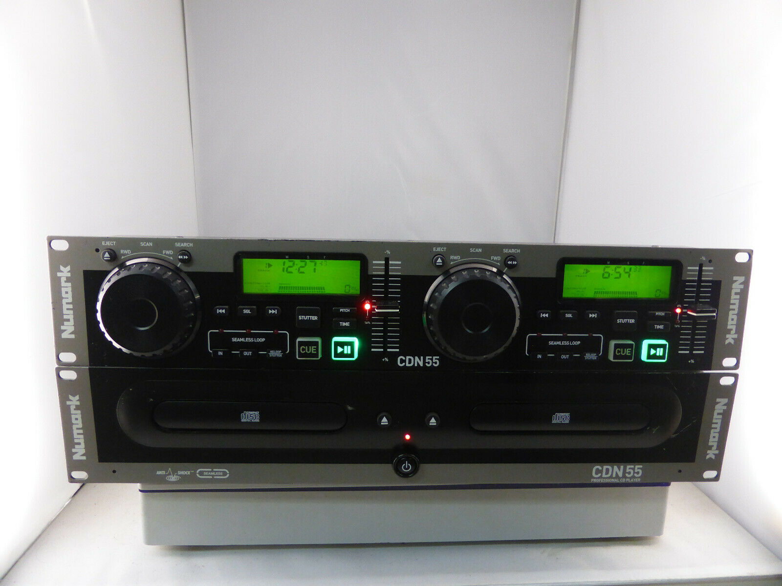Numark CDN55 DJ Doppel CD-Player Rackmontage 19
