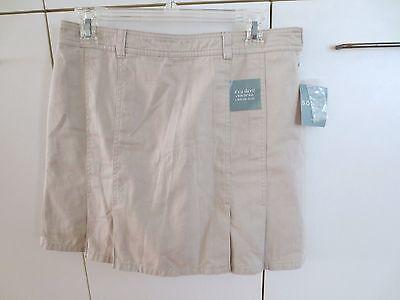 Sonoma Golf Skort Skirt Short Lined  Stone Beige  Size 8  NWT