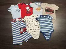 Baby boy onesie's, 0 - 3 months Ashgrove Brisbane North West Preview