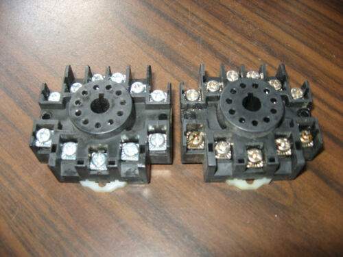 Lot of 2 Relay and Control RC-123 Cube Relay Bases (11 Pin Round )