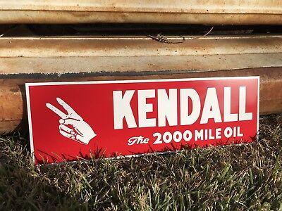 Antique Vintage Old Style Kendall Motor Oil Sign **Blemish**