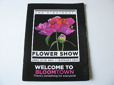 2015 Cincinnati Ohio Flower Show Arts Craft Convention Yeatmans Cove Program Map