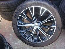"""Set Of 17"""" Advanti Black With Chrome Rims 5 stud x 100 Pattern ! Green Valley Liverpool Area Preview"""