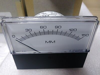 Hoyt - 3135 Panel Meter  Input 0 - 20 Ma Dc  Scale 0 - 150 Mm - 3.5