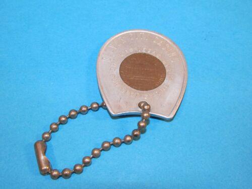 Vintage SILVER CITY CASINO Las Vegas Encased Lucky Cent Penny Token Coin + Chain