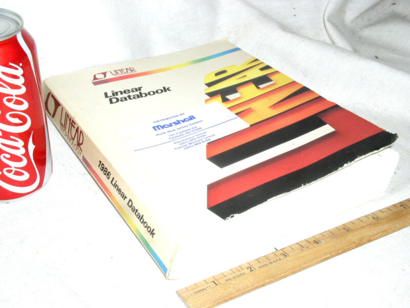 1986 LT LINEAR TECHNOLOGY POWER SUPPLY IC DATA BOOK OP AMP COMPARATOR SOFTCOVER