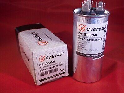 Dual Run 505 Mfd 370 Vac Electric Motor Run Oil Filled Capacitor Uf Hvac 50-5