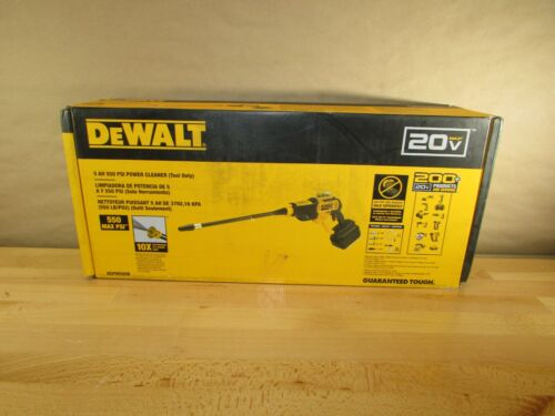 Dewalt DCPW550B 20V 550 PSI, 1.0 GPM Cold Water Cordless Electric Power Cleaner