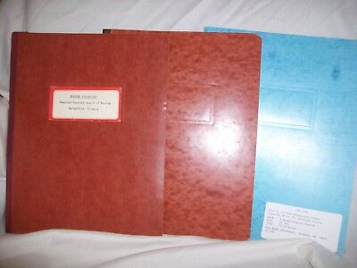 3 Vintage Accopress Acco Pressboard Binders Cover Accordion Folder