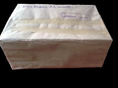 Handgeschöpftes Büttenpapier 1000 Blatt mit Specht im Wasserzeichen selten rar