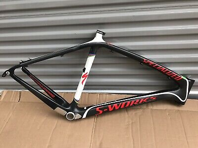 619f461f37e 2010 Specialized S-Works Stumpjumper HT Fact 10m Carbon Frame Size 21""
