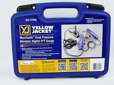 Yellow Jacket 67002 Mantooth Dual Pressure Wireless Digital Pt Gauge Open Box