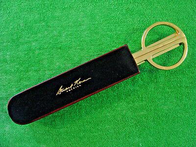 Stuart Kern Letter Opener Scissors Combo In Leather Case Desk Set Made In Italy