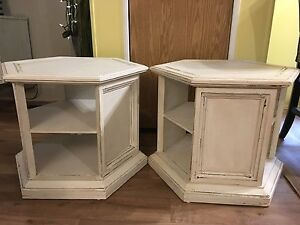 Refinished antique end tables