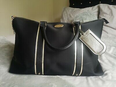River Island Gold And Black Weekend Bag