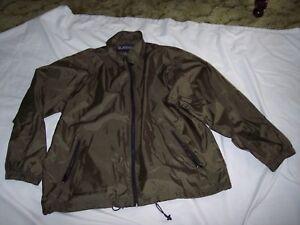 TOTES Raincoat Olive Green Jacket XL Lightweight