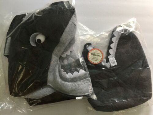 POTTERY BARN KIDS SHARK HALLOWEEN COSTUME + TREAT BAG SEA WORLD TODDLER BOY 2-3T