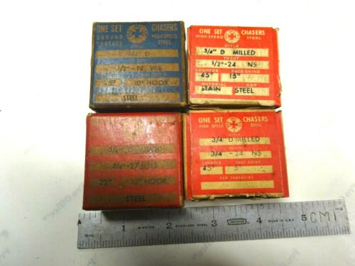 4 -  NEW SETS USA MADE SPECIAL GEOMETRIC CHASERS FOR A 3/4 D DIE HEAD