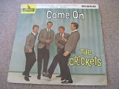 THE CRICKETS Come On  EP  1964    LIBERTY      VG+