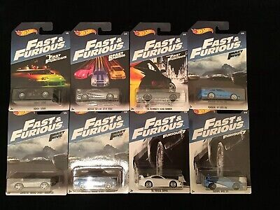 Hot Wheels  2017 FAST & FURIOUS FAST FIVE Set of 8 Cars FORD ESCORD ERROR CARD