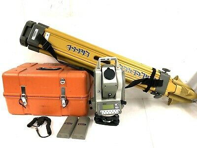 Nikon Dtm-420 30x 4 Total Station With 2 Batteries Case Sokkia Tripod