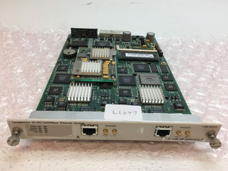 Spirent LAN-3301A SmartBits TeraMetrics 10/100/1000 BaseT Ethernet Module