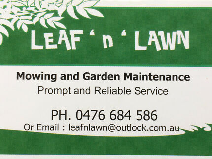 Leaf n Lawn Mowing and Garden Maintenance