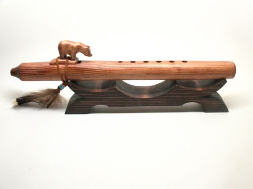 Native American Flute Whistle Recorder Stand Holder Display Gift #1174