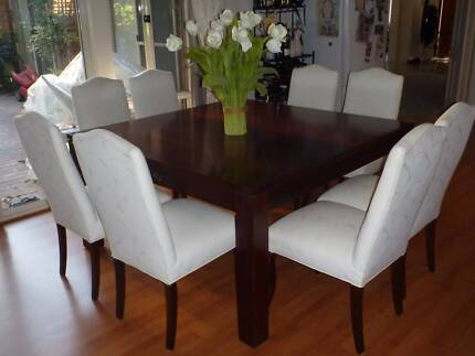 family dining table and white chairs Rowville Knox Area Preview