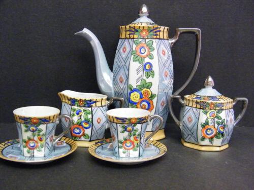 LUSTERWARE ANTIQUE ART DECO TEA SET !
