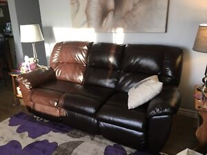 Matching leather couch & chair