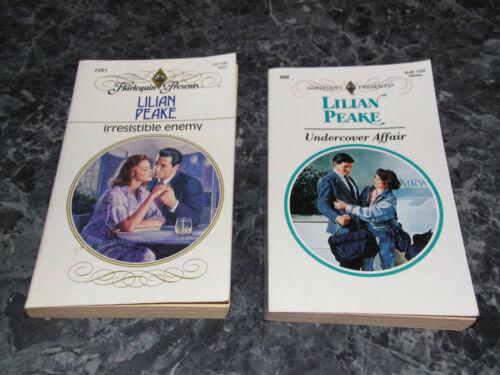 Harlequin Presents Lilian Peake lot of 2 contemporary romance paperback